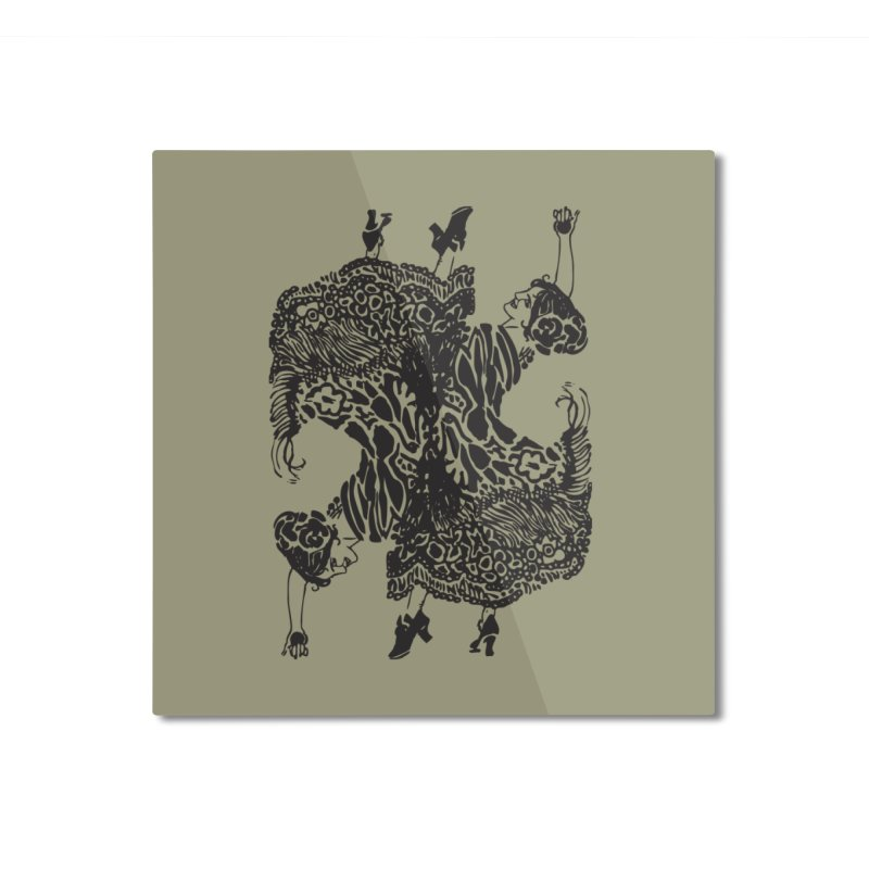 dance. Home Mounted Aluminum Print by Turkeylegsray's Artist Shop