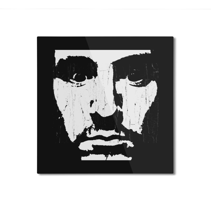 face Home Mounted Aluminum Print by Turkeylegsray's Artist Shop