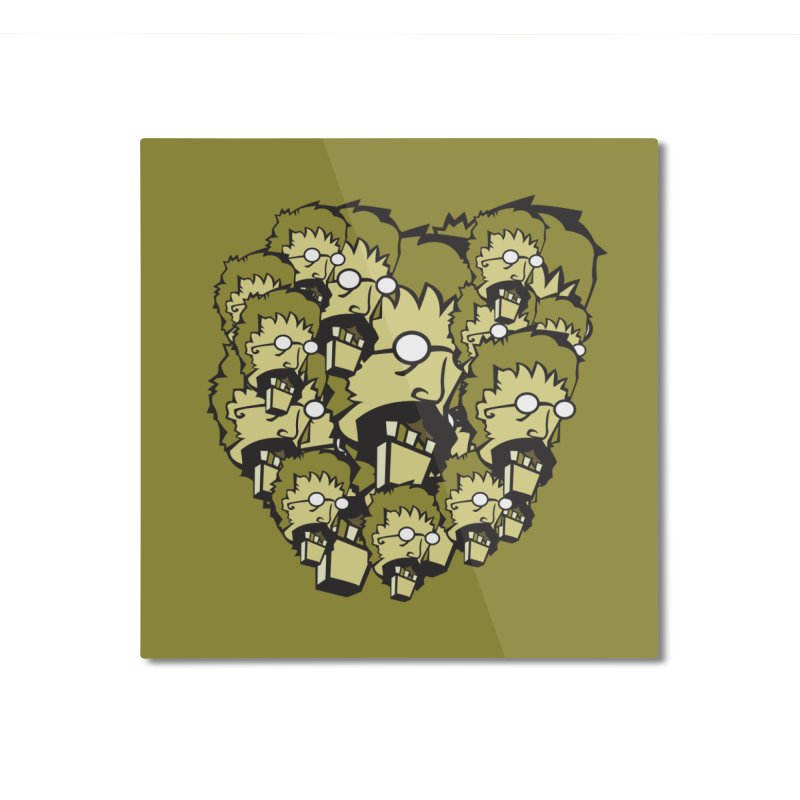 Clutter Zombie Home Mounted Aluminum Print by Turkeylegsray's Artist Shop