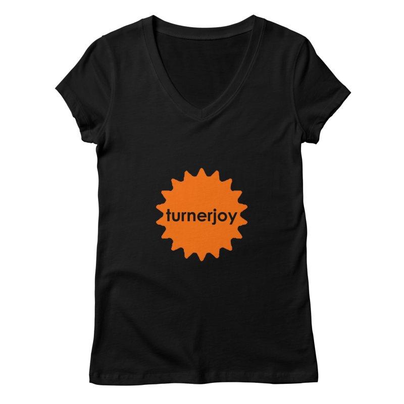 Small Sun Women's V-Neck by turnerjoy's Artist Shop