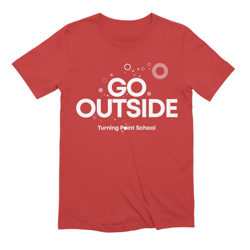 Study Tour Shirt - Go Outside in Men's Extra Soft T-Shirt Red by Turning Point School
