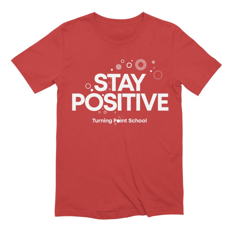 Study Tour Shirt - Stay Positive in Men's Extra Soft T-Shirt Red by Turning Point School