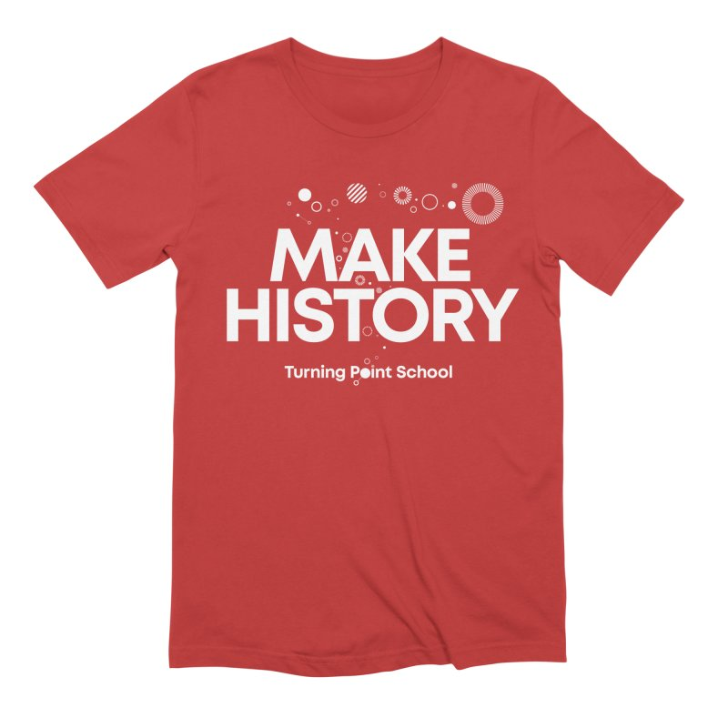 Study Tour Shirt - Make History in Men's Extra Soft T-Shirt Red by Turning Point School
