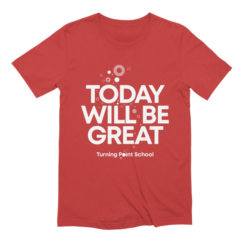 Study Tour Shirt - Today Will Be Great in Men's Extra Soft T-Shirt Red by Turning Point School