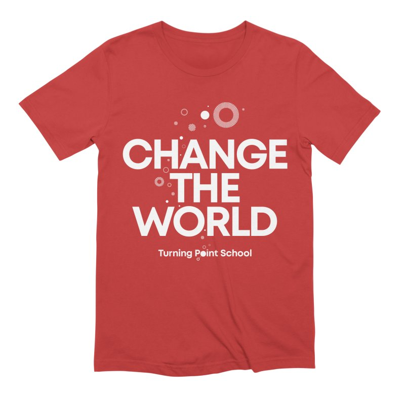 Study Tour Shirt - Change The World in Men's Extra Soft T-Shirt Red by Turning Point School