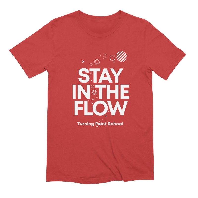 Study Tour Shirt - Stay in the Flow in Men's Extra Soft T-Shirt Red by Turning Point School