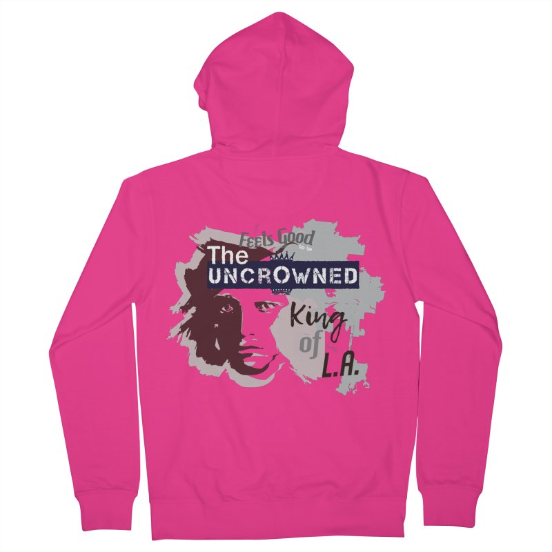 Uncrowned King of L.A. Men's French Terry Zip-Up Hoody by tuttilu's Artist Shop