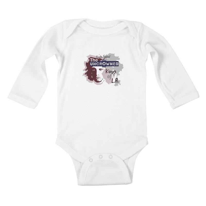 Uncrowned King of L.A. Kids Baby Longsleeve Bodysuit by tuttilu's Artist Shop