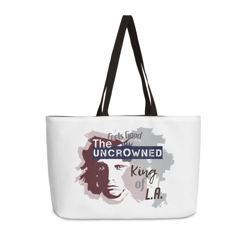 Uncrowned King of L.A. Accessories Weekender Bag Bag by tuttilu's Artist Shop