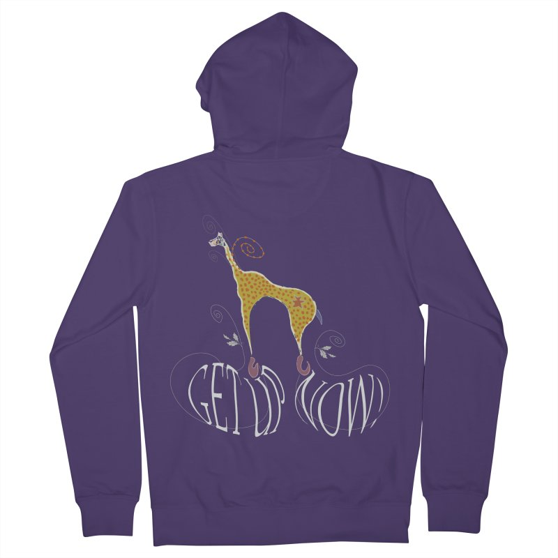 Get Up Now! Women's French Terry Zip-Up Hoody by tuttilu's Artist Shop