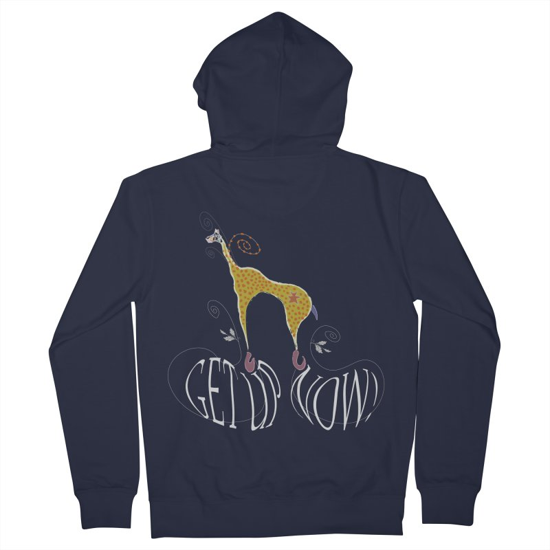 Get Up Now! Men's French Terry Zip-Up Hoody by tuttilu's Artist Shop