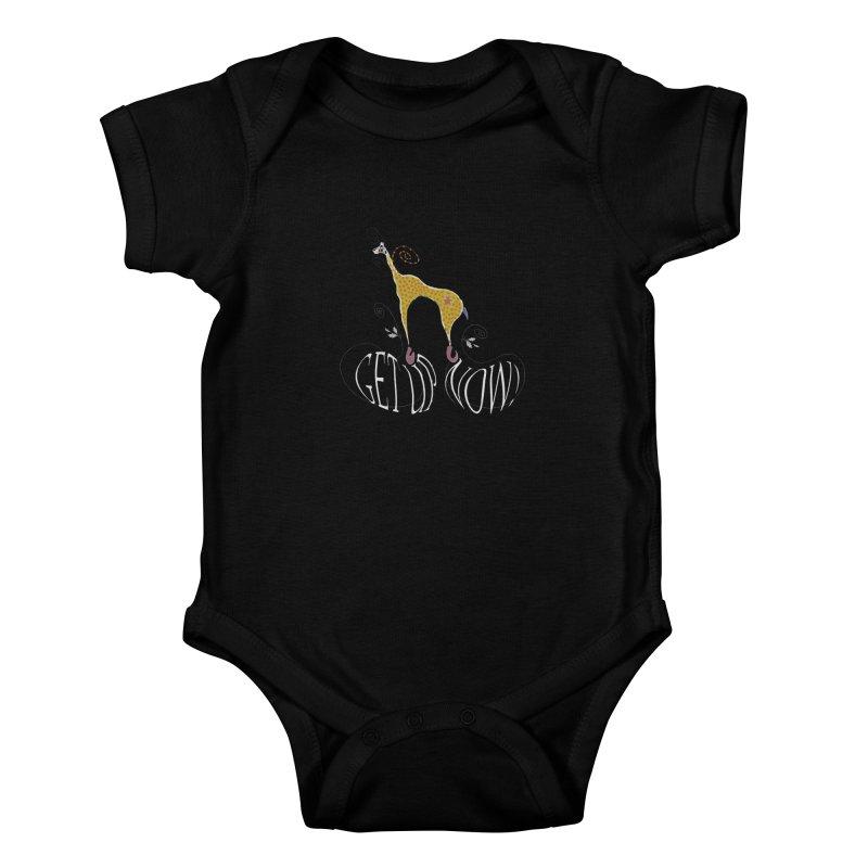 Get Up Now! Kids Baby Bodysuit by tuttilu's Artist Shop
