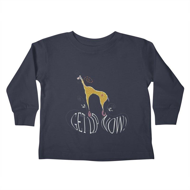 Get Up Now! Kids Toddler Longsleeve T-Shirt by tuttilu's Artist Shop