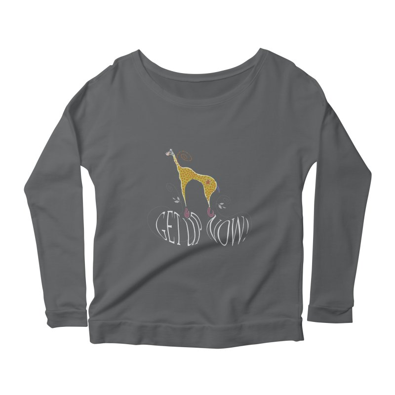 Get Up Now! Women's Scoop Neck Longsleeve T-Shirt by tuttilu's Artist Shop