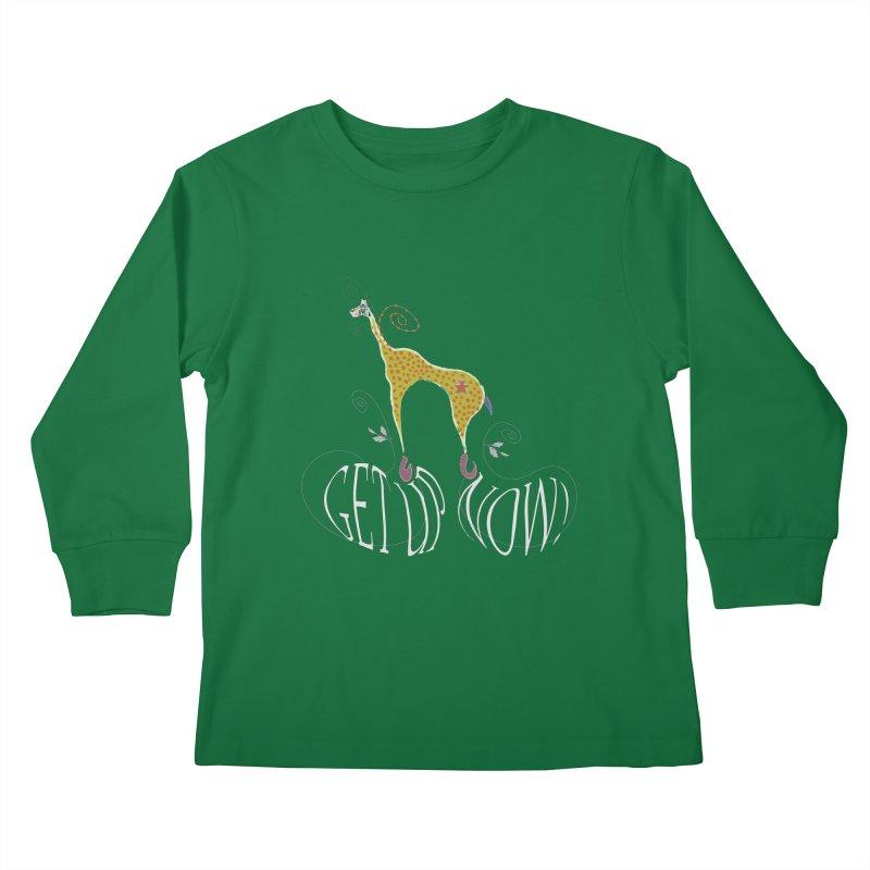 Get Up Now! Kids Longsleeve T-Shirt by tuttilu's Artist Shop