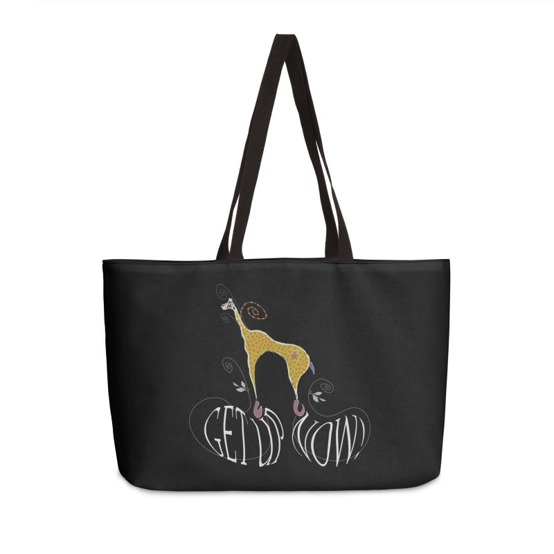 Get Up Now! Accessories Weekender Bag Bag by tuttilu's Artist Shop