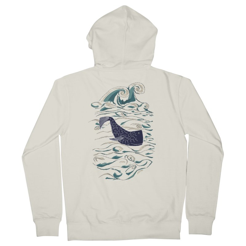 Not a Japanese Fish! Men's French Terry Zip-Up Hoody by tuttilu's Artist Shop