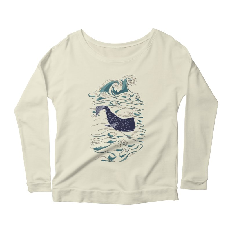 Not a Japanese Fish! Women's Scoop Neck Longsleeve T-Shirt by tuttilu's Artist Shop
