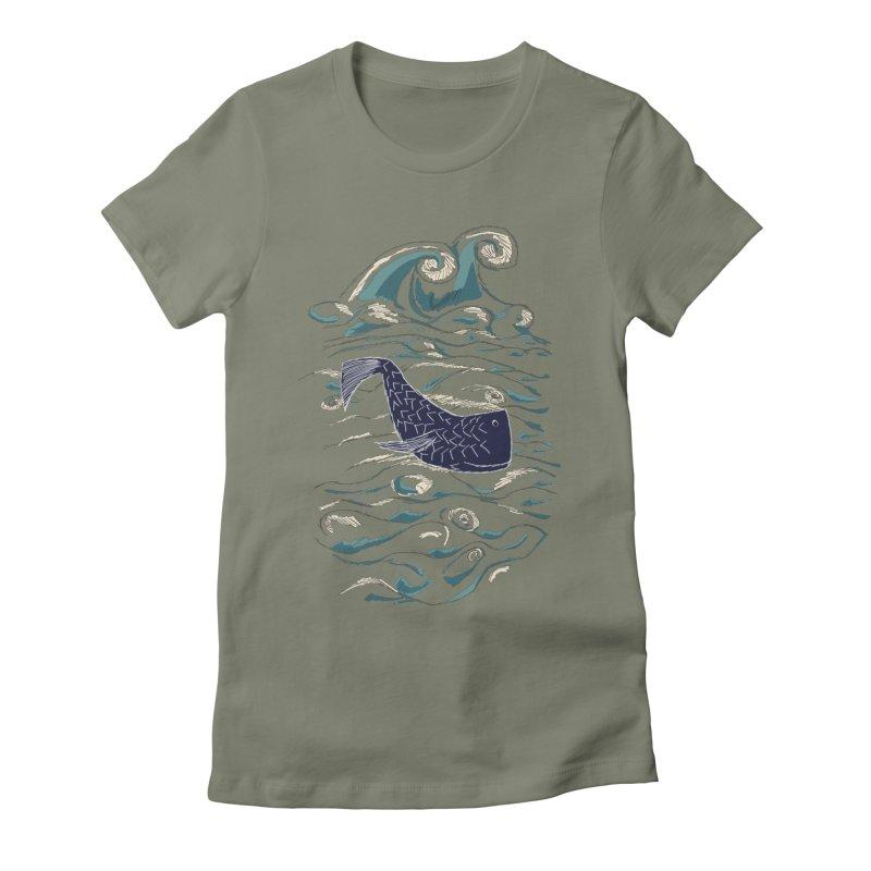 Not a Japanese Fish! Women's Fitted T-Shirt by tuttilu's Artist Shop