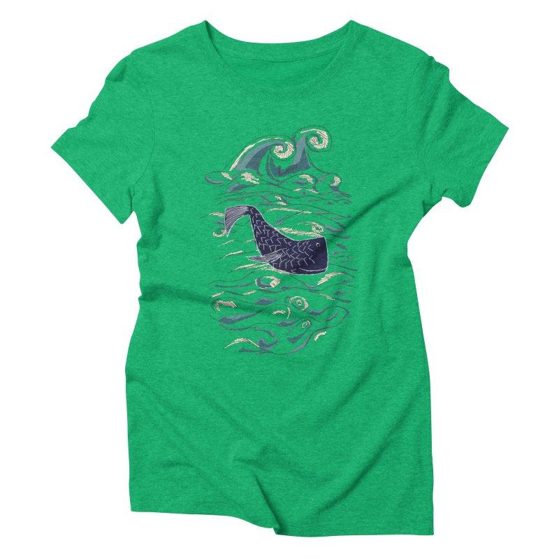 Not a Japanese Fish! Women's Triblend T-Shirt by tuttilu's Artist Shop