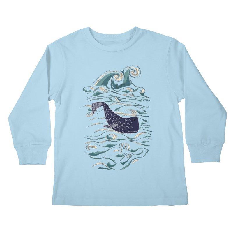 Not a Japanese Fish! Kids Longsleeve T-Shirt by tuttilu's Artist Shop