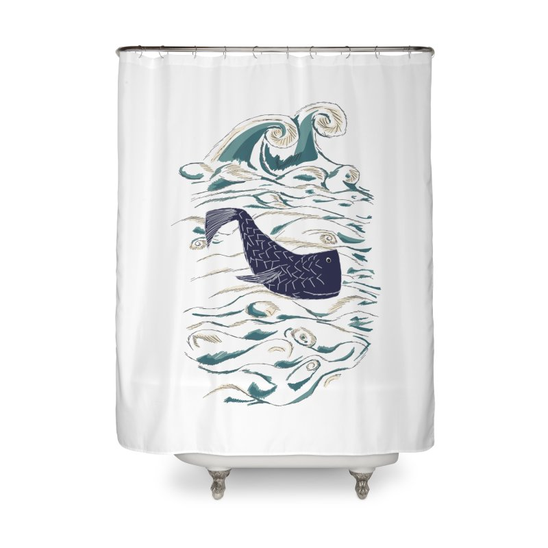 Not a Japanese Fish! Home Shower Curtain by tuttilu's Artist Shop