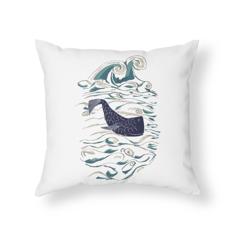 Not a Japanese Fish! Home Throw Pillow by tuttilu's Artist Shop