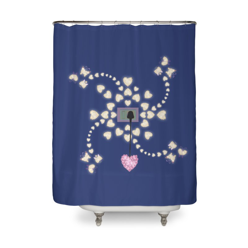 Plug into your Heart Home Shower Curtain by tuttilu's Artist Shop