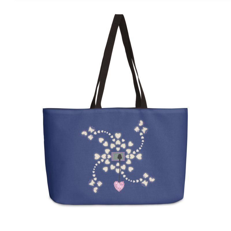 Plug into your Heart Accessories Weekender Bag Bag by tuttilu's Artist Shop