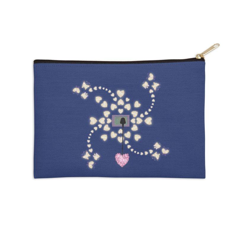 Plug into your Heart Accessories Zip Pouch by tuttilu's Artist Shop