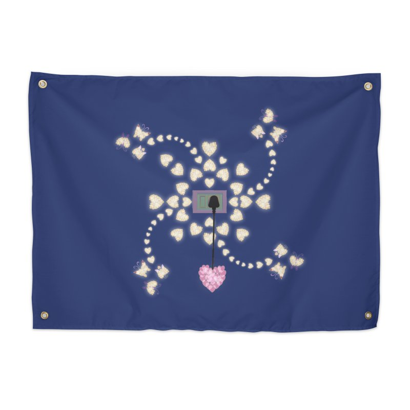 Plug into your Heart Home Tapestry by tuttilu's Artist Shop
