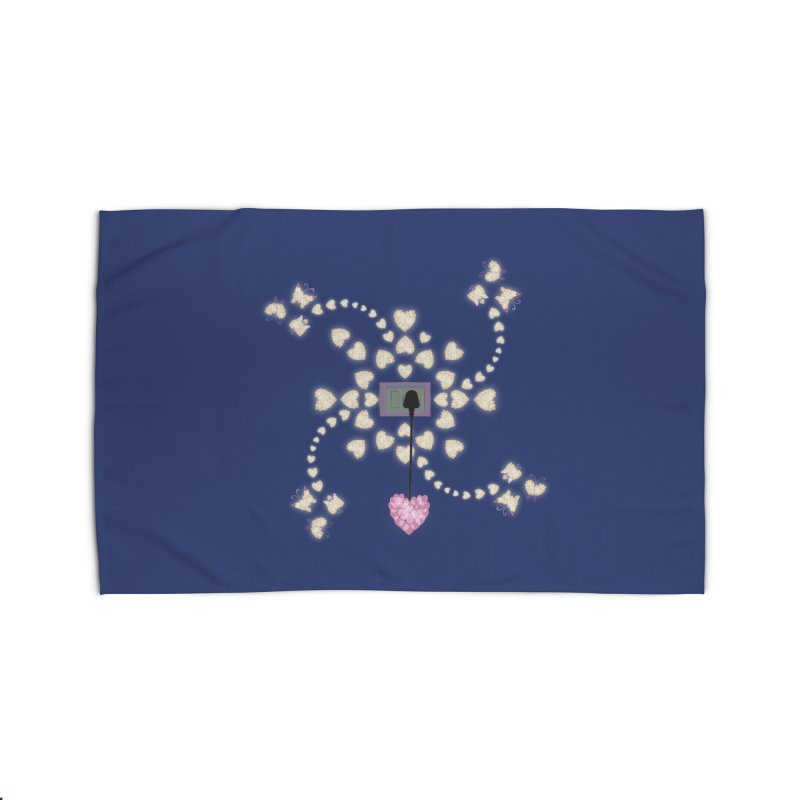 Plug into your Heart Home Rug by tuttilu's Artist Shop