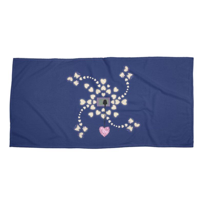 Plug into your Heart Accessories Beach Towel by tuttilu's Artist Shop