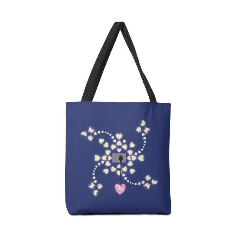 Plug into your Heart Accessories Tote Bag Bag by tuttilu's Artist Shop