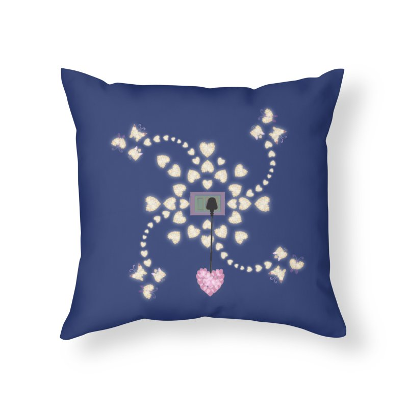 Plug into your Heart Home Throw Pillow by tuttilu's Artist Shop