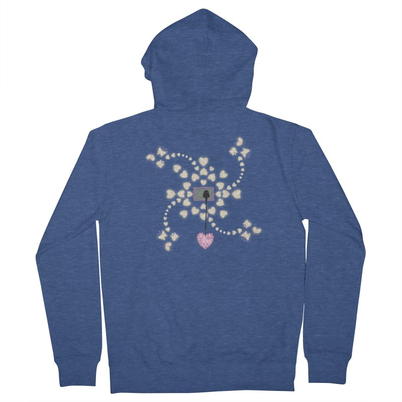 Plug into your Heart Women's French Terry Zip-Up Hoody by tuttilu's Artist Shop