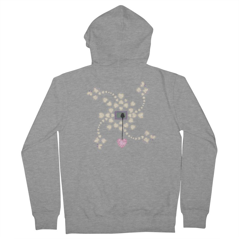 Plug into your Heart Men's French Terry Zip-Up Hoody by tuttilu's Artist Shop