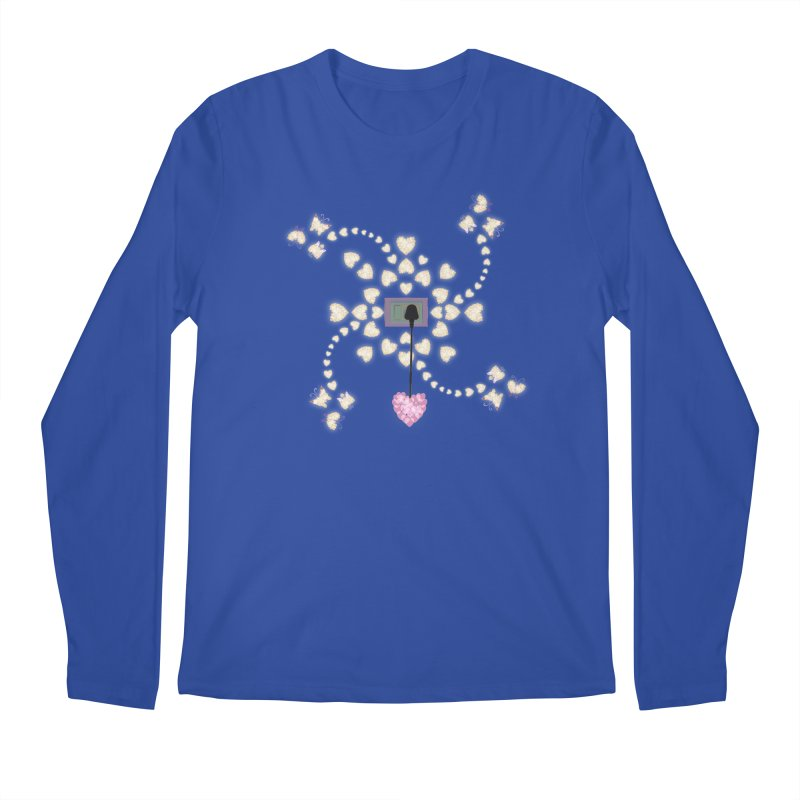Plug into your Heart Men's Regular Longsleeve T-Shirt by tuttilu's Artist Shop