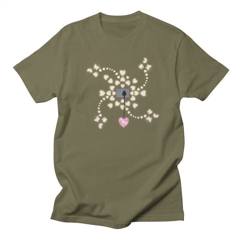 Plug into your Heart Men's Regular T-Shirt by tuttilu's Artist Shop