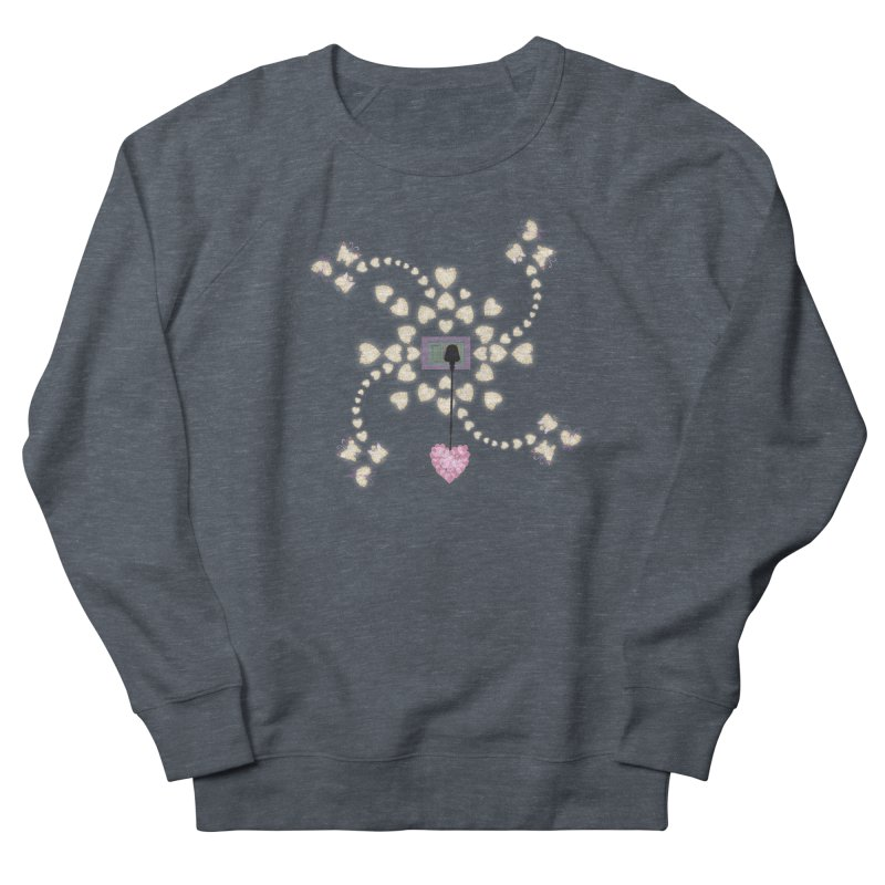 Plug into your Heart Women's French Terry Sweatshirt by tuttilu's Artist Shop