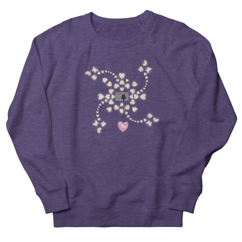 Plug into your Heart Men's French Terry Sweatshirt by tuttilu's Artist Shop