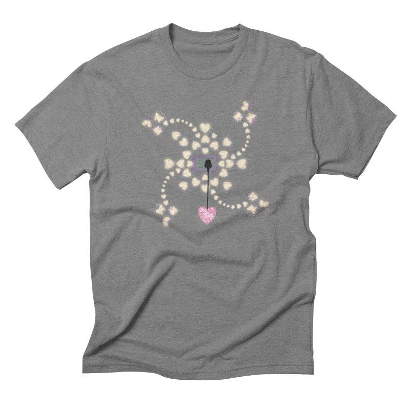 Plug into your Heart Men's Triblend T-Shirt by tuttilu's Artist Shop