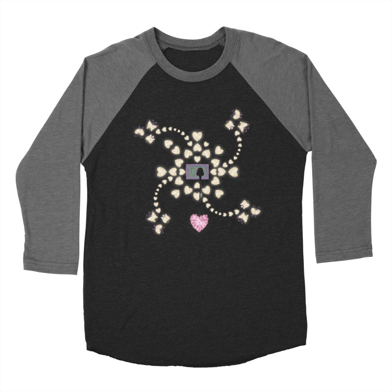 Plug into your Heart Men's Baseball Triblend Longsleeve T-Shirt by tuttilu's Artist Shop