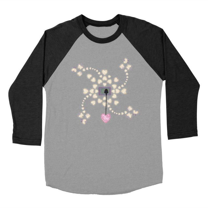 Plug into your Heart Men's Baseball Triblend Longsleeve T-Shirt by tuttilu's Artist Shop