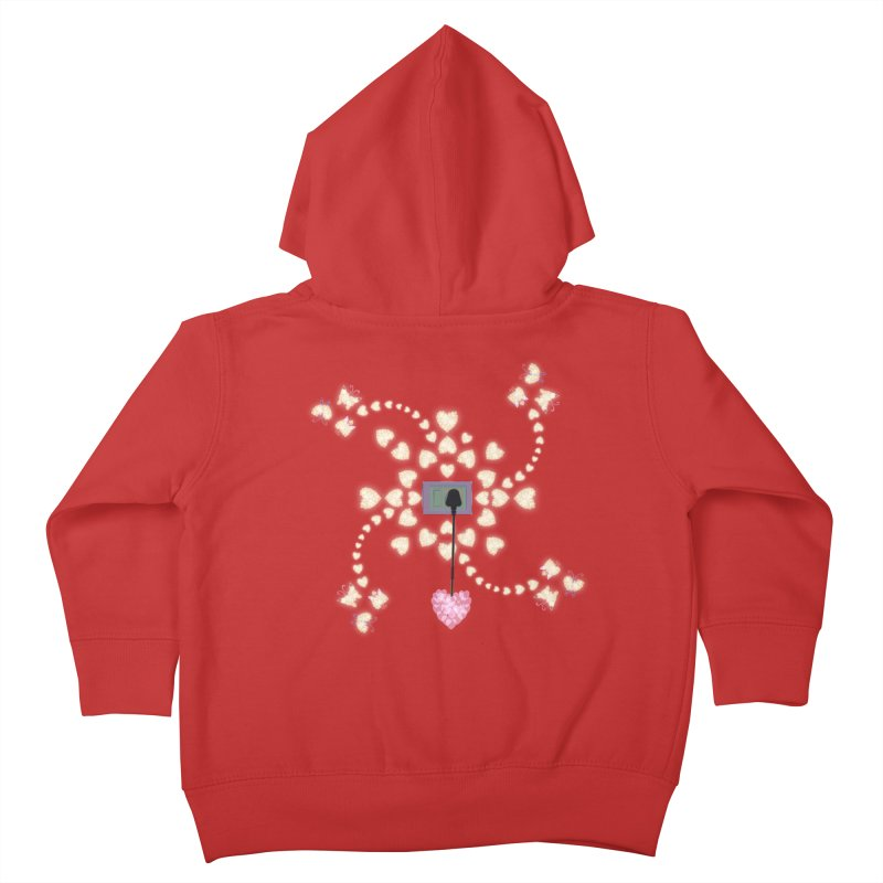 Plug into your Heart Kids Toddler Zip-Up Hoody by tuttilu's Artist Shop