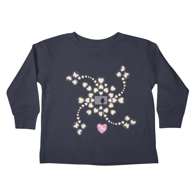 Plug into your Heart Kids Toddler Longsleeve T-Shirt by tuttilu's Artist Shop