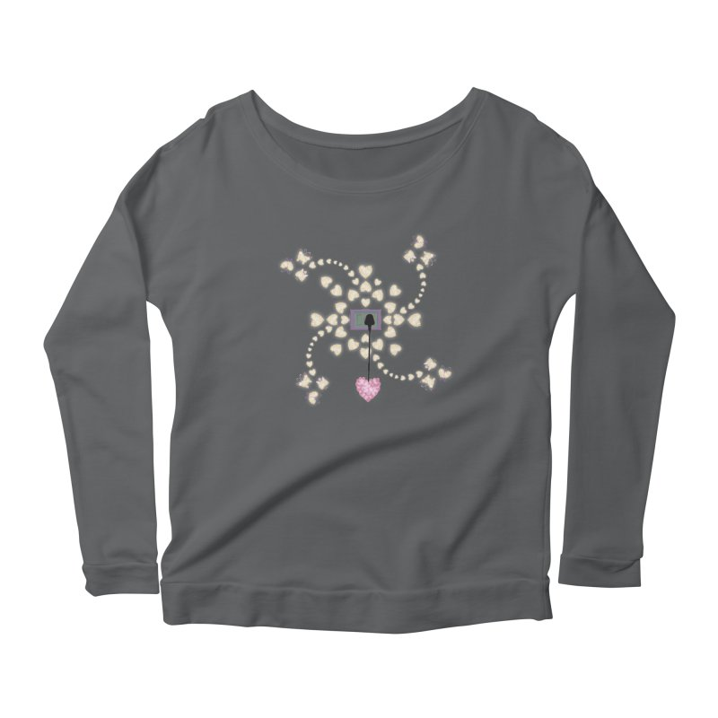 Plug into your Heart Women's Scoop Neck Longsleeve T-Shirt by tuttilu's Artist Shop