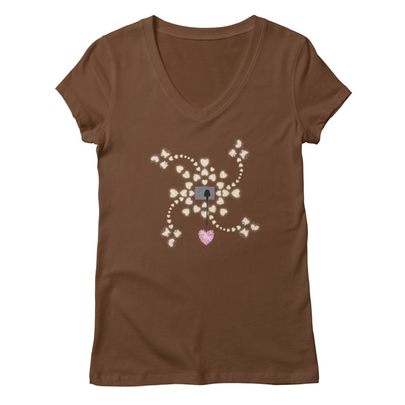 Plug into your Heart Women's Regular V-Neck by tuttilu's Artist Shop