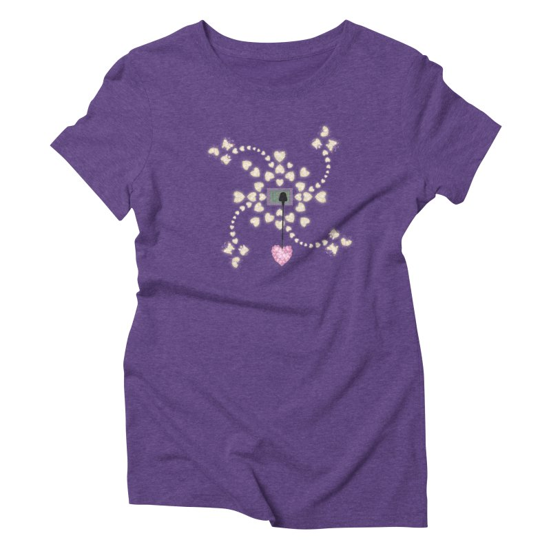Plug into your Heart Women's Triblend T-Shirt by tuttilu's Artist Shop