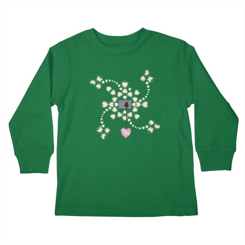 Plug into your Heart Kids Longsleeve T-Shirt by tuttilu's Artist Shop